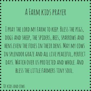 Farm Kids' Prayer