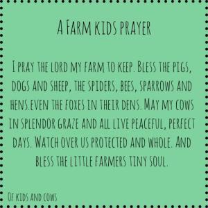 Farm Kids' Prayer