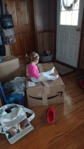 Luckily for me, a giant box from Amazon turned out to be pretty good entertainment...